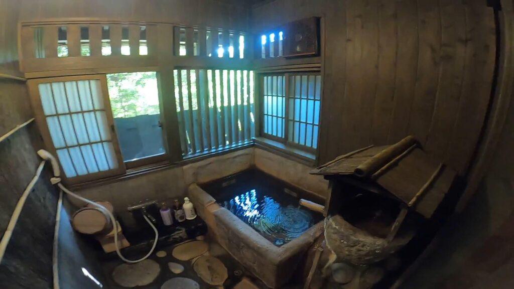 お宿のし湯しおんのお部屋のお風呂